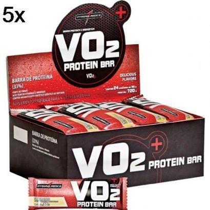 Kit 5X VO2 Prontein Bar IntegralMédica – 24 Unids 30g