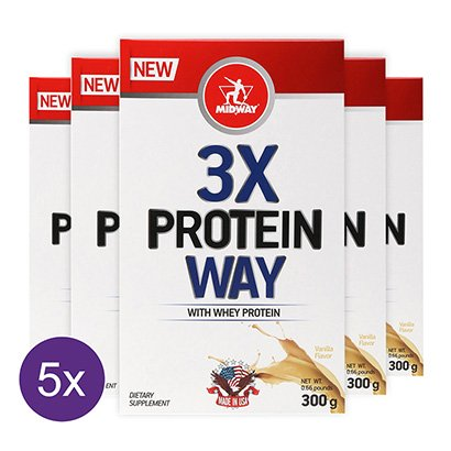 Kit 5x Way Protein 3X Midway 300 g