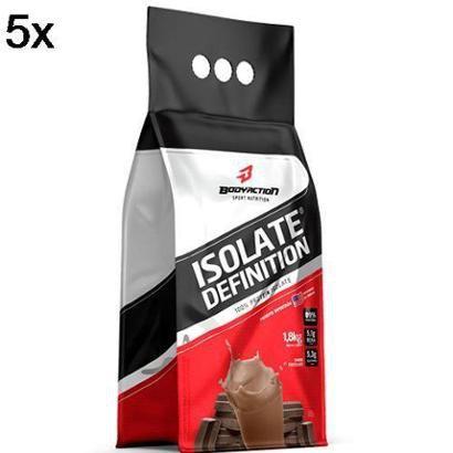 Kit 5X Whey Isolate Definition BodyAction 1800g