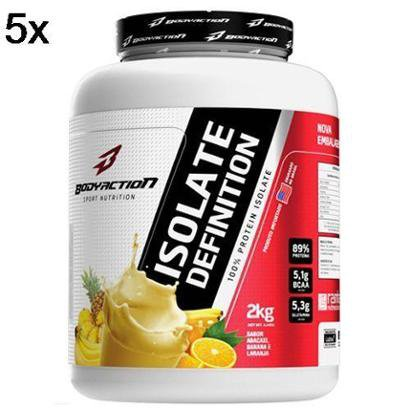 Kit 5X Whey Isolate Definition BodyAction – 2000g