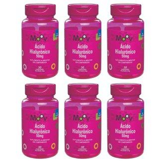 Kit 6 Ácido Hialurônico p/ Redução de Rugas e Antienvelhecimento