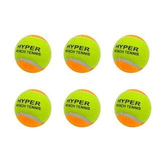 Kit 6 Bolas de Beach Tennis Hyper Sports