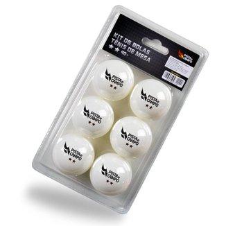 Kit 6 Bolinhas De Ping Pong Tênis De Mesa Pista E Campo - B