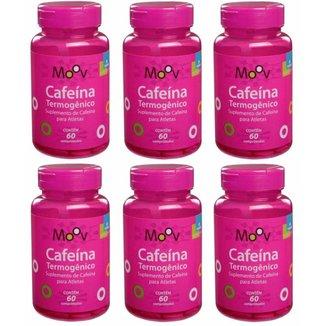 Kit 6 Cafeína Termogênico P/ Queimar Gordura E Emagrecer 60 comprimidos