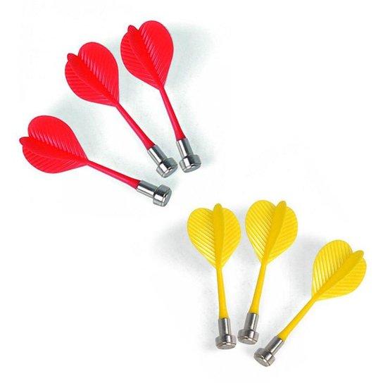 Kit 6 Dardos Magnéticos Sem Ponta - Amarelo