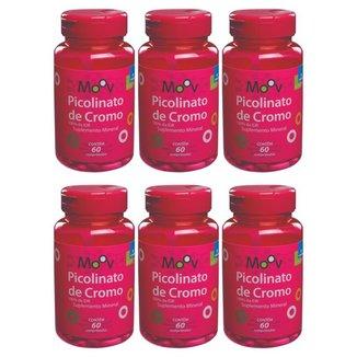 Kit 6 Picolinato De Cromo - Reduz Vontade Por Doces- 60 comprimidos