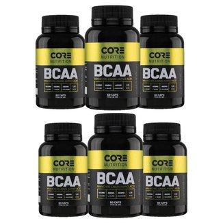 Kit 6x BCAA 3:1:1 60 Cáps - Core Nutrition