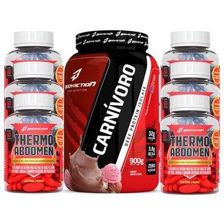 kit 6x Thermo Abdomen 60 Comp + Carnívoro Body Action