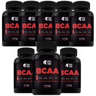 Kit 8x Bcaa 60 Cáps Espartanos