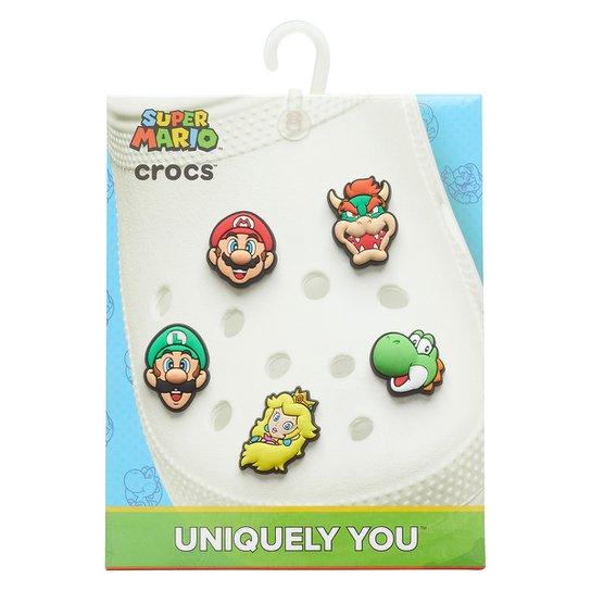 Kit Acessório Para Crocs Infantil Jibbitz Super Mario 5 Unidades - Colorido