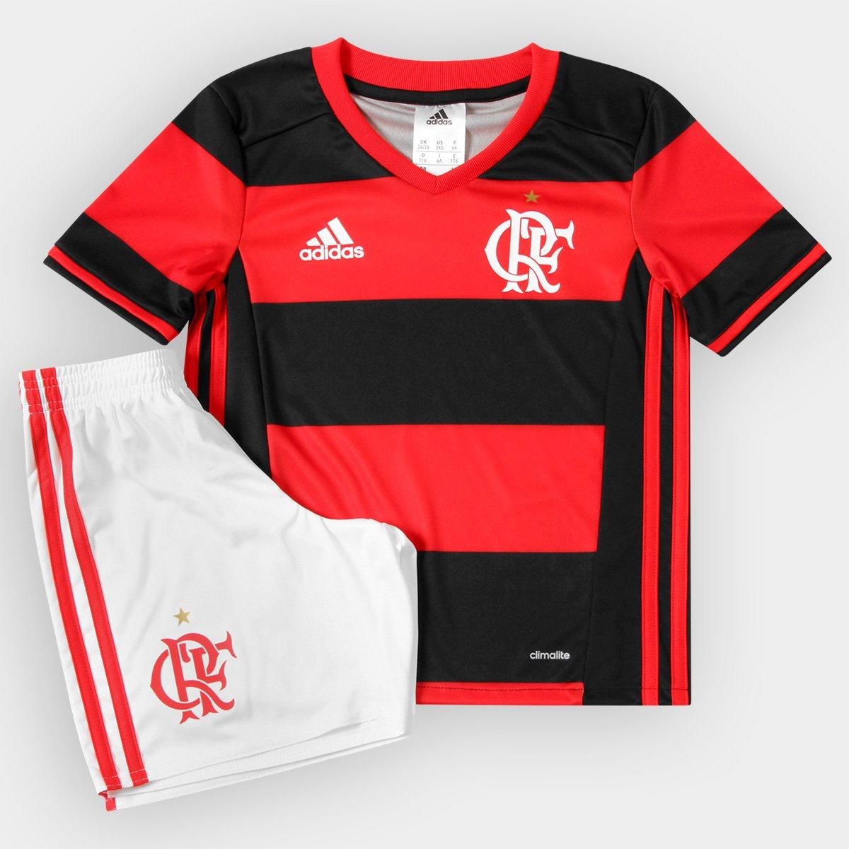 Kit Adidas Flamengo 2016 Infantil - Compre Agora  67cee0879152c