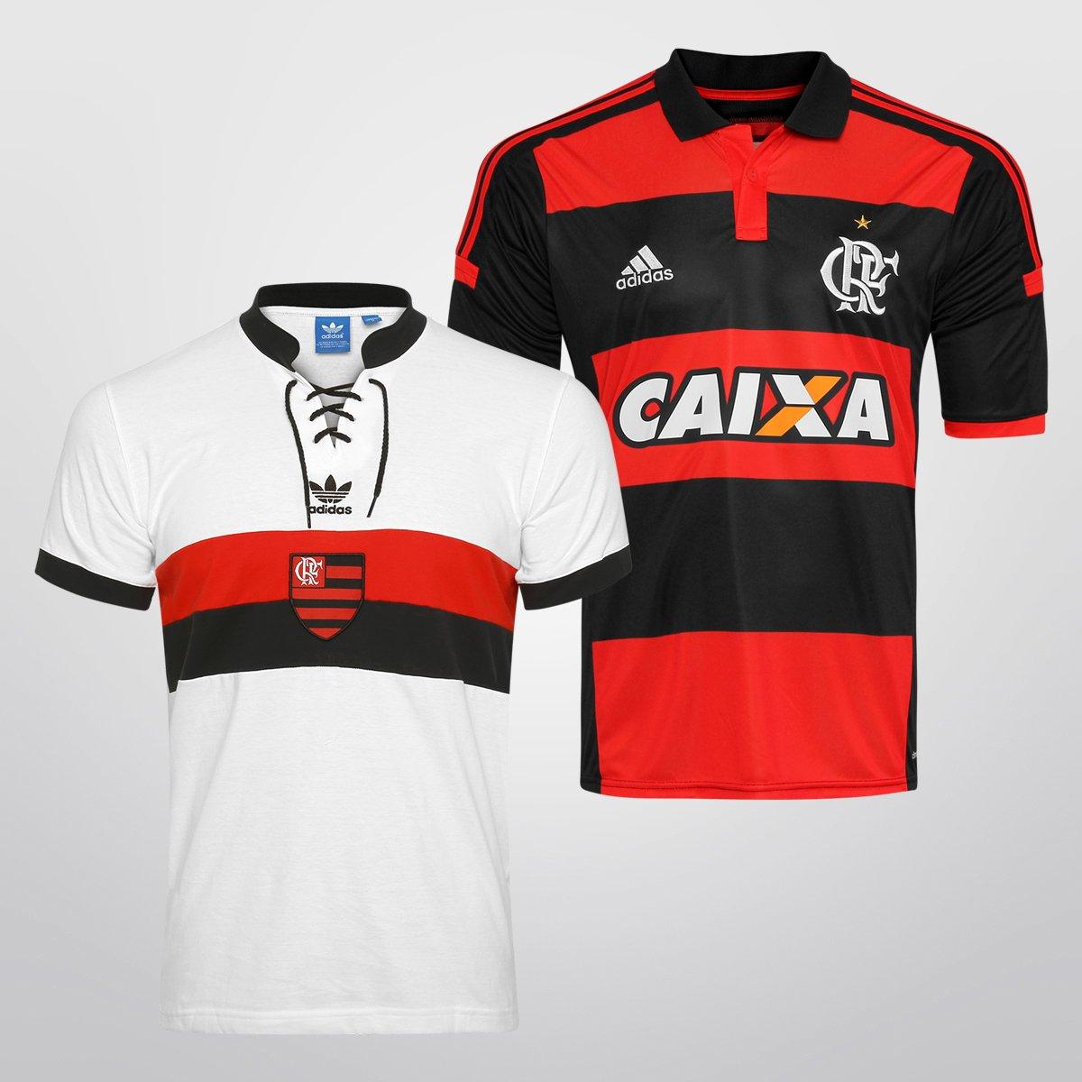 9016813a6d Kit Adidas Flamengo - Camisa I 14 15 + Camisa Retrô - Compre Agora ...