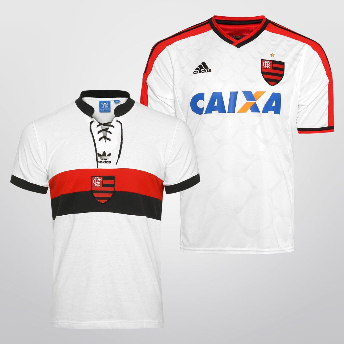 Kit Adidas Flamengo - Camisa II 14 15 + Camisa Retrô - Compre Agora ... bb723c53decd3