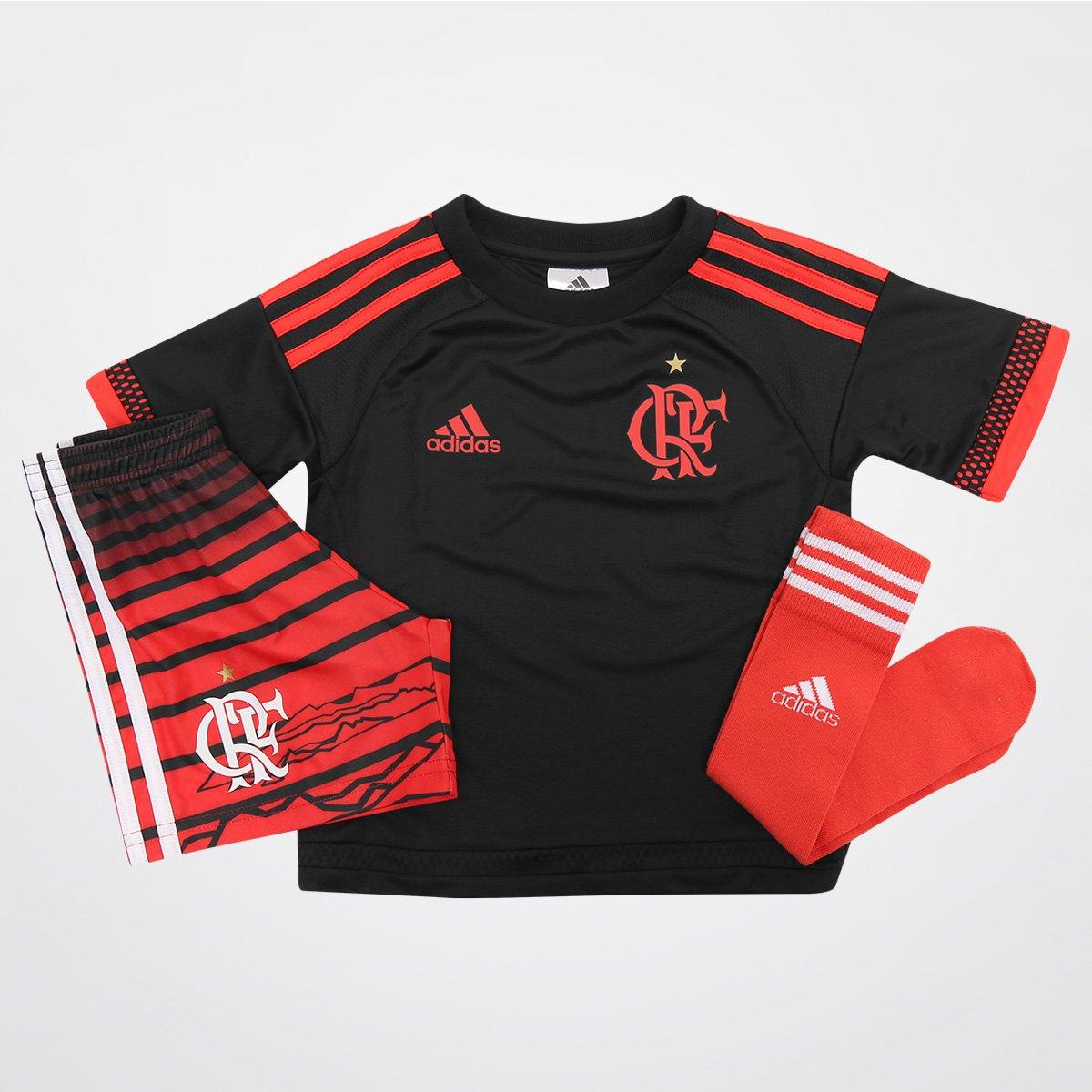 Kit Adidas Flamengo III 2016 Infantil - Compre Agora  b7ed27d92011c