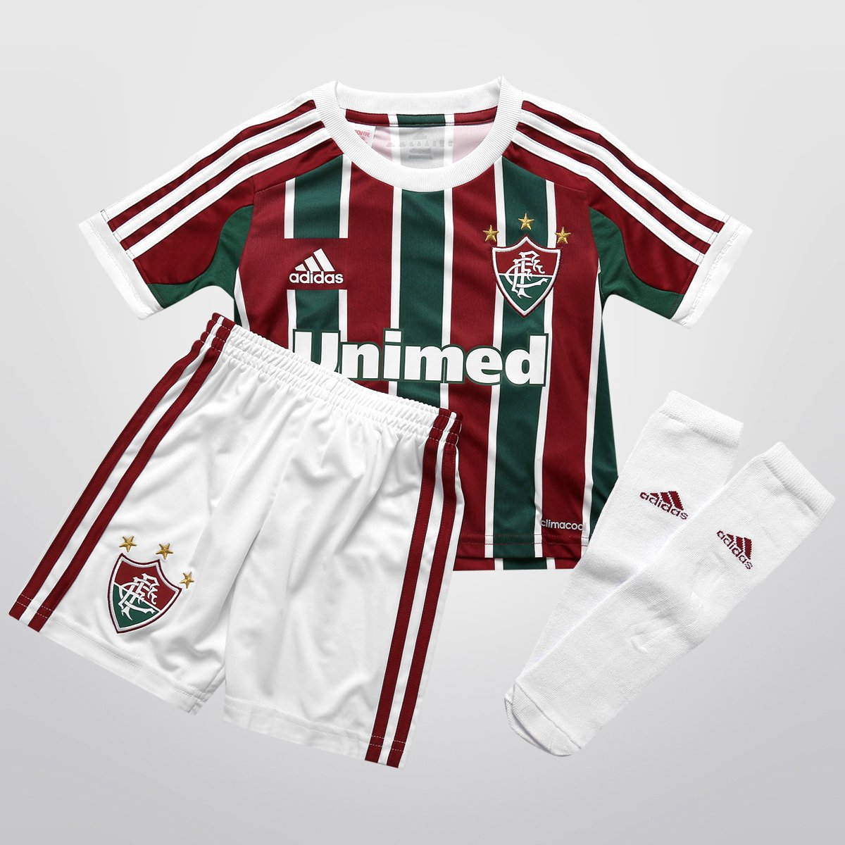 4c7f6e2103676 Kit Adidas Fluminense I 13 14 s nº Infantil - Compre Agora