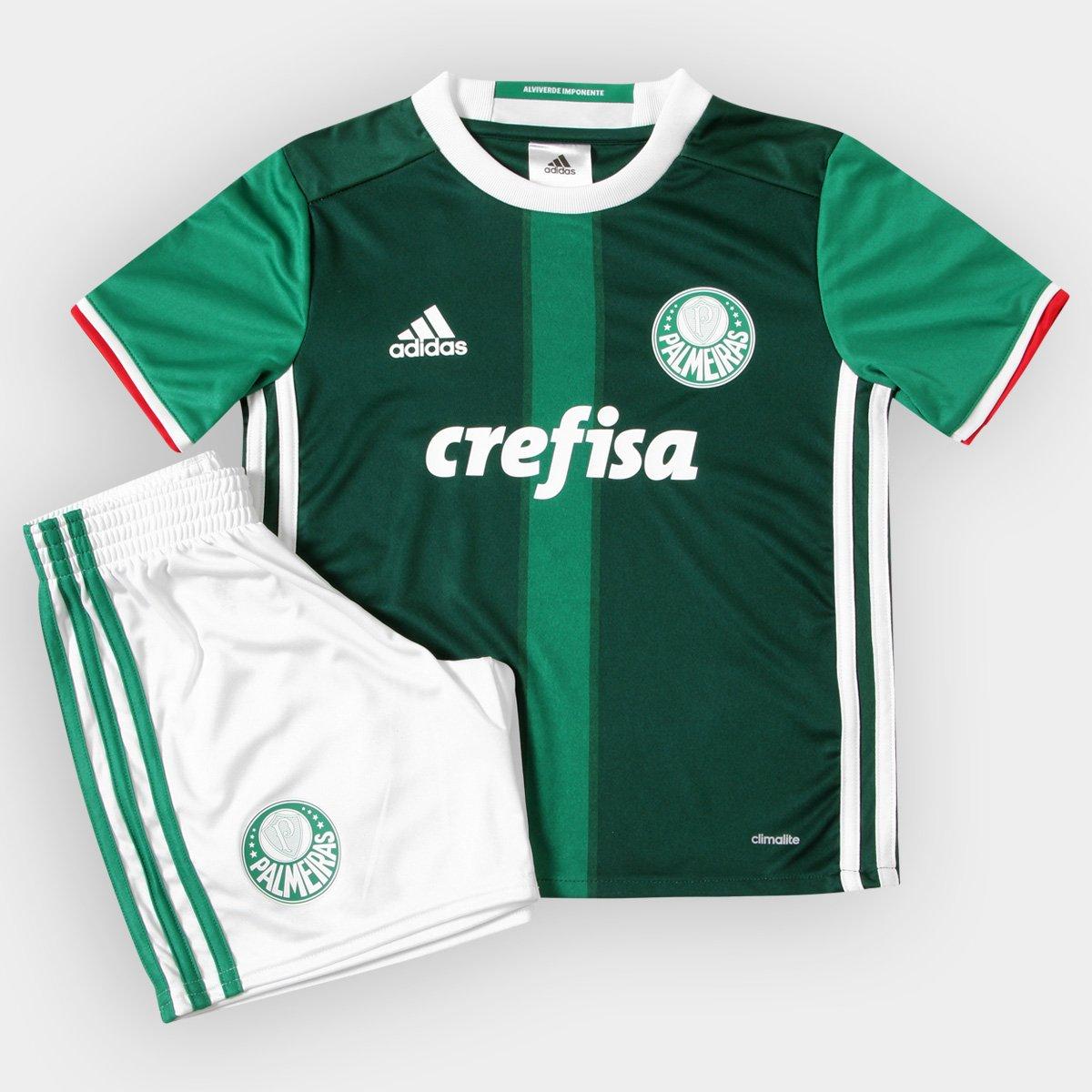 Kit Adidas Palmeiras I 2016 Infantil - Compre Agora  8f19ca90107ef