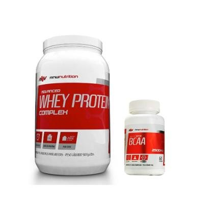 Kit Advanced Whey Protein Complex 900gr + BCAA 2500mg 60 cápsulas – MNW Nutrition