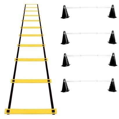 Kit Agilidade 24 Cones Barreira + Escada EVA Funcional - Unissex