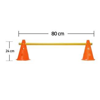 Kit  Agilidade  8 Cones 24 cm e 4 Barreira 80cm