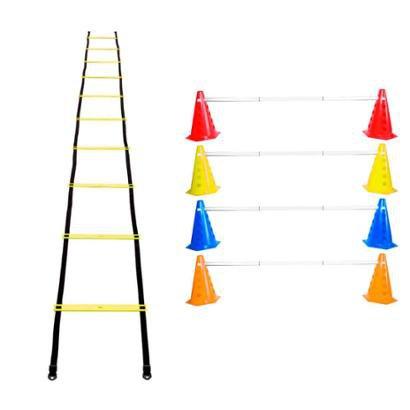 Kit Agilidade 8 Cones Barreira + Escada Plastico Funcional - Unissex