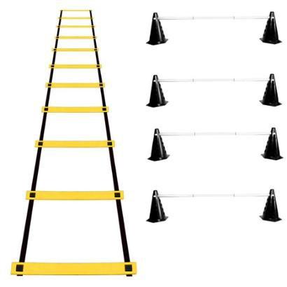 Kit Agilidade Funcional 20 Cones Barreira + Escada EVA - Unissex