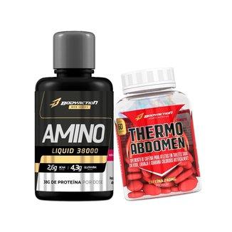 Kit Amino Liquid 38000 480 Ml + Thermo Abdomen Body Action