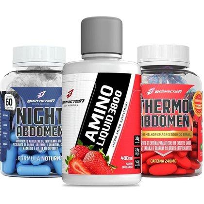 Kit Amino Liquido + Thermo Abdomen + Night Abdomen - Body Action
