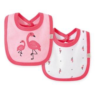 Kit Babadores Bebê Pingo Lelê Flamingo Feminino 2 Peças