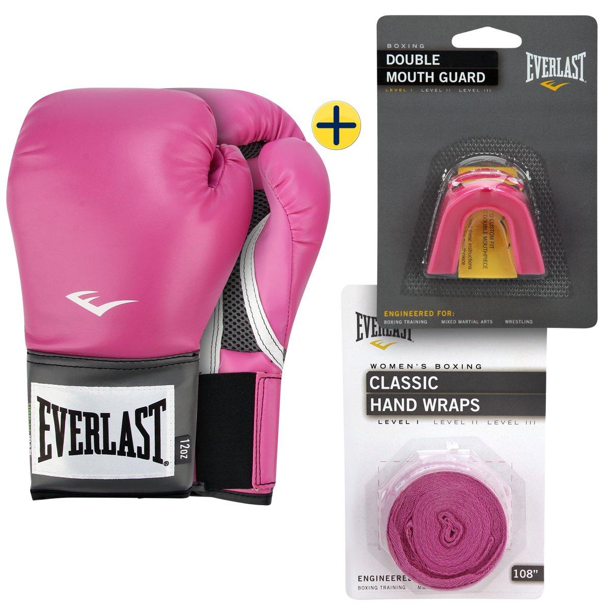 Kit Bandagem Elástica 3 m + Protetor Bucal Duplo + Luva de Boxe Muay Thai d6f6149543103