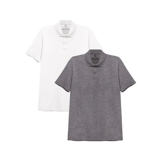 Kit Basicamente 2 Camisas Polo Masculina
