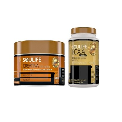 Kit BCAA 120 Cáps e Creatina 150g Soulife