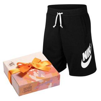 Kit Bermuda Moletom Nike Masculina + Caixa de Bombom c/ 9 unidades