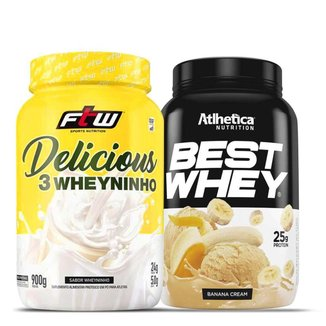 Kit Best Whey 900G + 3 Whey Delicious 900G - Atlhetica Nutrition