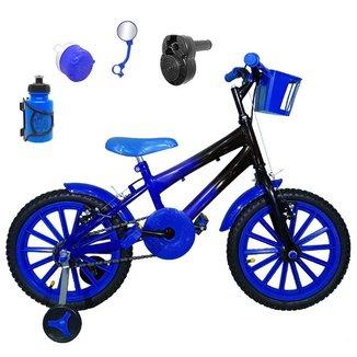Kit Bicicleta Infantil Aro 16 FlexBikes C/ Acelerador Sonoro e Acessórios
