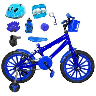 Kit Bicicleta Infantil Aro 16 FlexBikes C/ Kit de Proteção e Acessórios