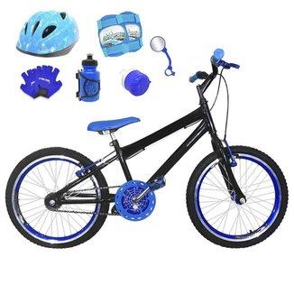 Kit Bicicleta Infantil Aro 20 FlexBikes C/ Capacete, Kit Proteção e Acessórios