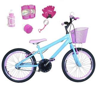 Kit Bicicleta Infantil Aro 20 FlexBikes C/ Kit Proteção e Acessórios