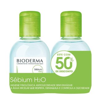 Kit Bioderma H2O Sebium – Água Micelar Demaquilante 2x Kit