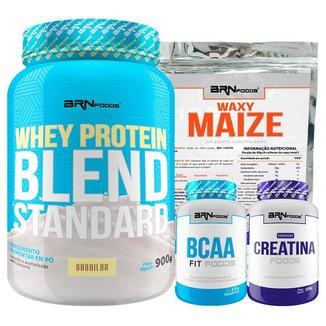 Kit Blend Standard 900g + BCAA 100g + Creatina 100g + Waxy Maize 800g - BRNFOODS
