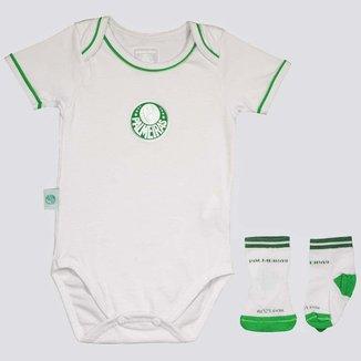 Kit Body Palmeiras Escudo Silkado