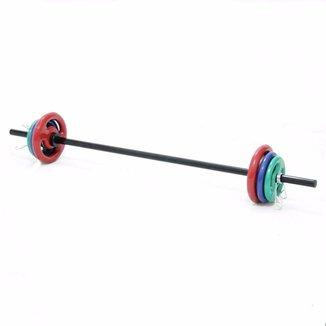 Kit Body Pump Barra Preta Kl Master Fitness 12 Kg Anilhas