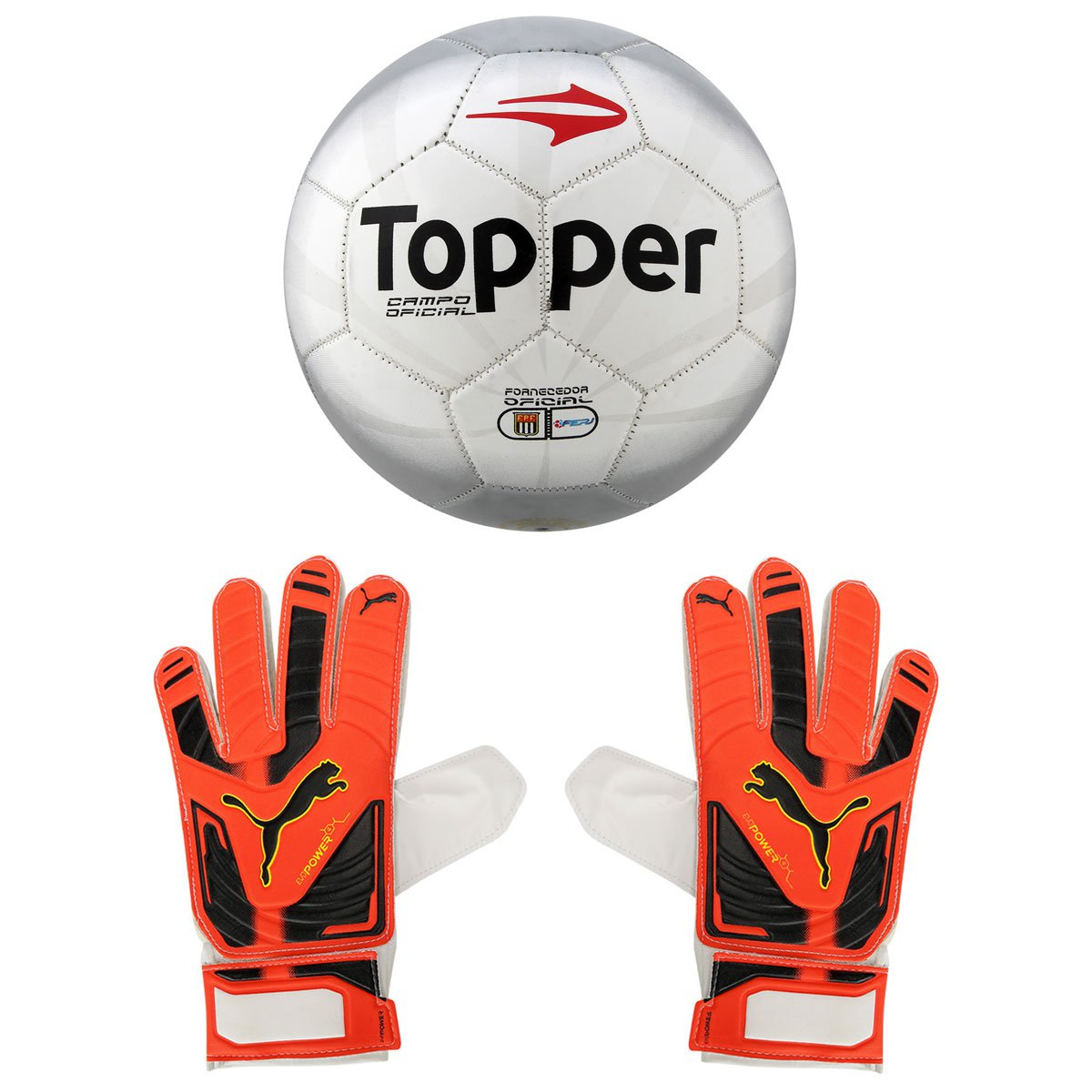 133ff677fac3d Kit Bola Topper Cup Campo + Luva Puma Evopower Grip 4 | Netshoes