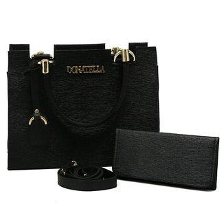 Kit Bolsa Donatella Castelo Feminina + Carteira Exclusiva