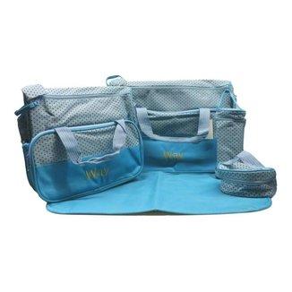 Kit Bolsa Maternidade Importway Iwkbmaz - Azul