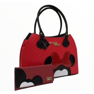 Kit Bolsa Tote Shopper + Carteira Feminina Dia a Dia Casual