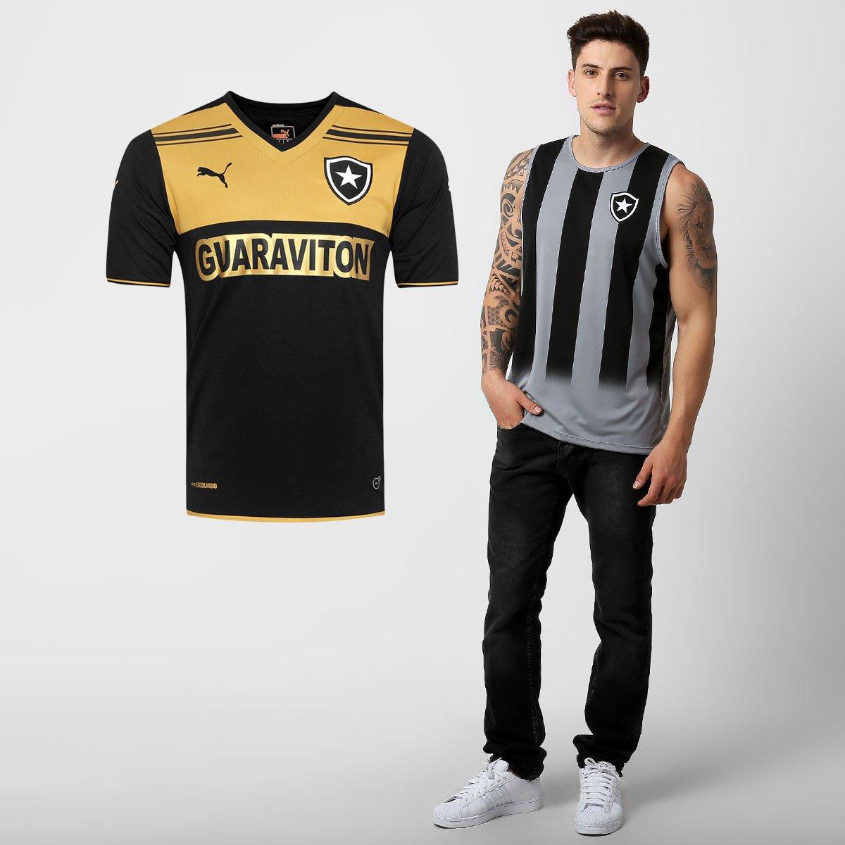 Kit Botafogo - Camisa Puma Botafogo II 14 15 + Regata Glorioso - Compre  Agora  8033b0343994f