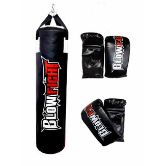 Kit Boxe 1,20 e 2 Pares Bate Saco Blow Fight