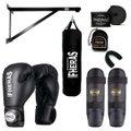 Kit Boxe Muay Thai com Suporte e Saco de Pancadas 100x100 cm