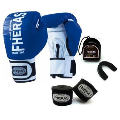 Kit Boxe Muay Thai Fheras New OrionLuva + Bandagem Orion