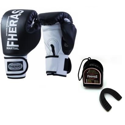 Kit Boxe Muay Thai Fheras New Orion Luva + Bucal Pr/Br06 oz